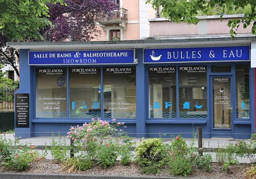 Bulles et eau - Showroom Porcelanosa Annecy