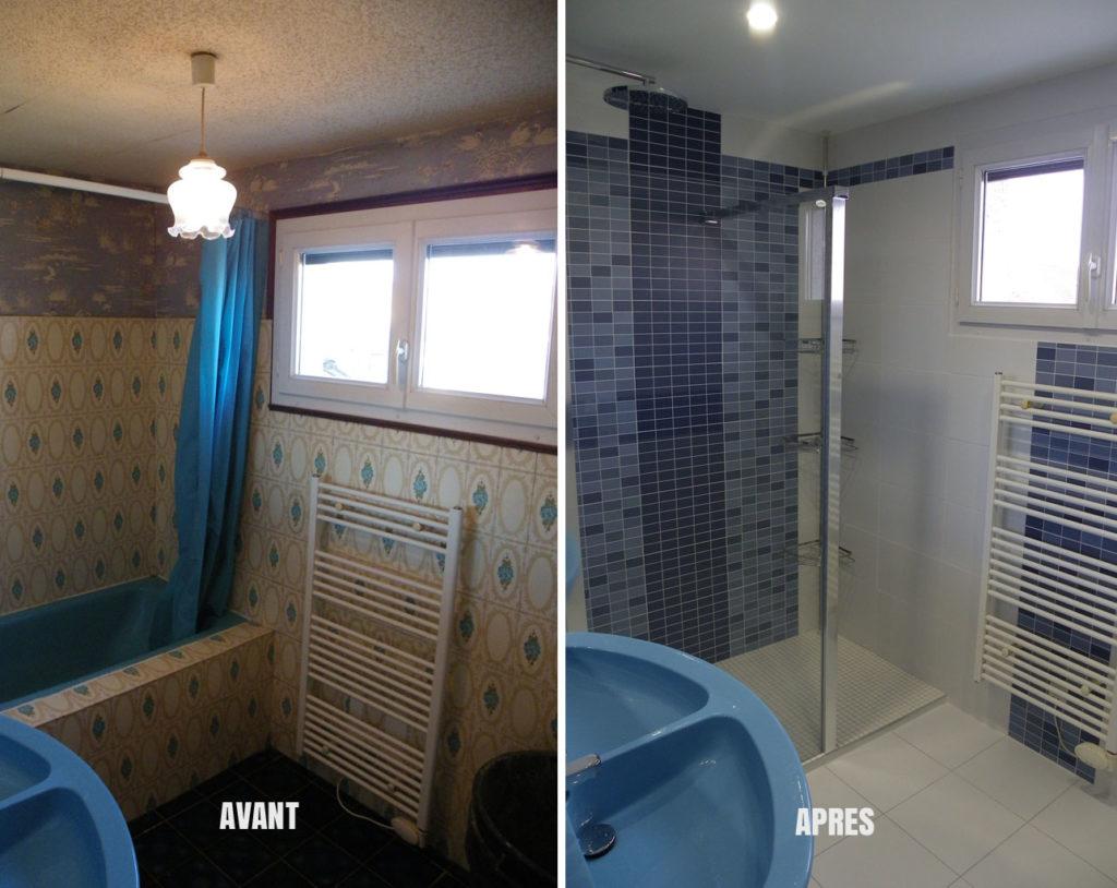 Rénovation de salle de bain : Avant / Après